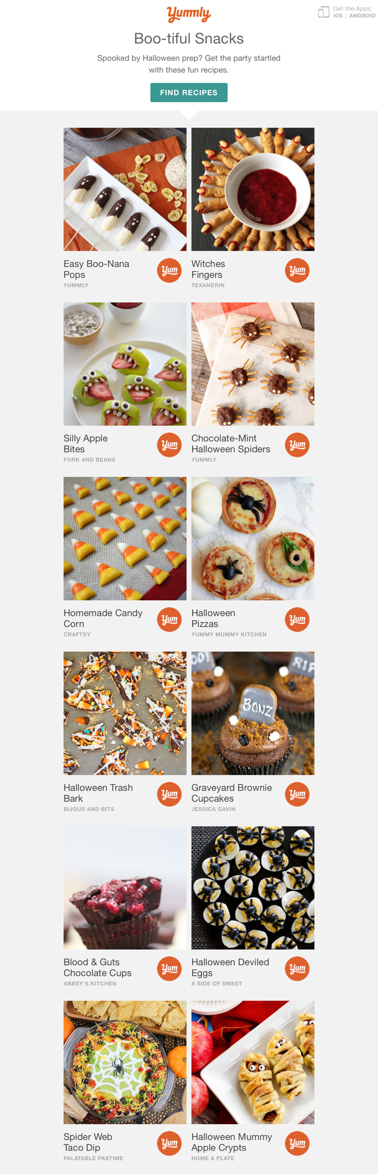 Yummly - Easy Spooky Snacks