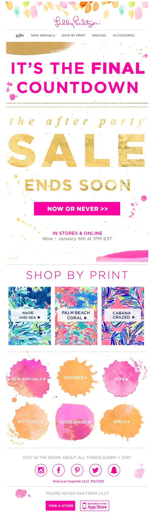 It's the final sale