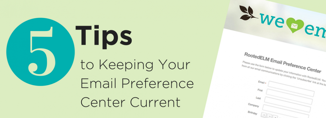 Create a Friendly Email Preference Center
