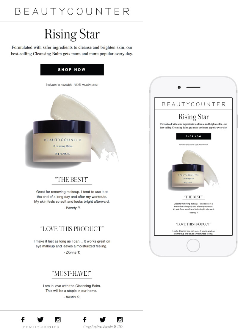 Beautycounter Email