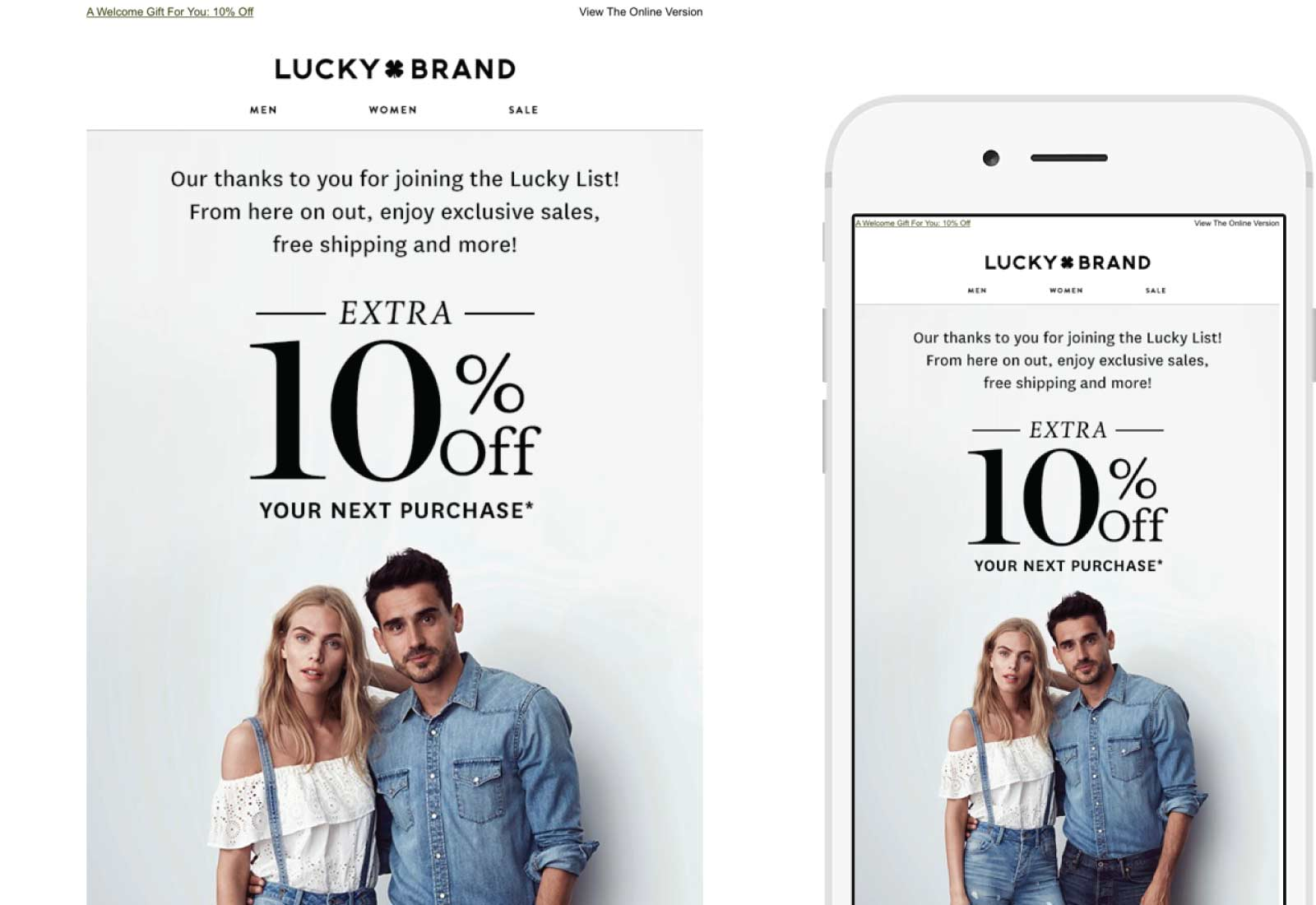 Lucky Brand Email