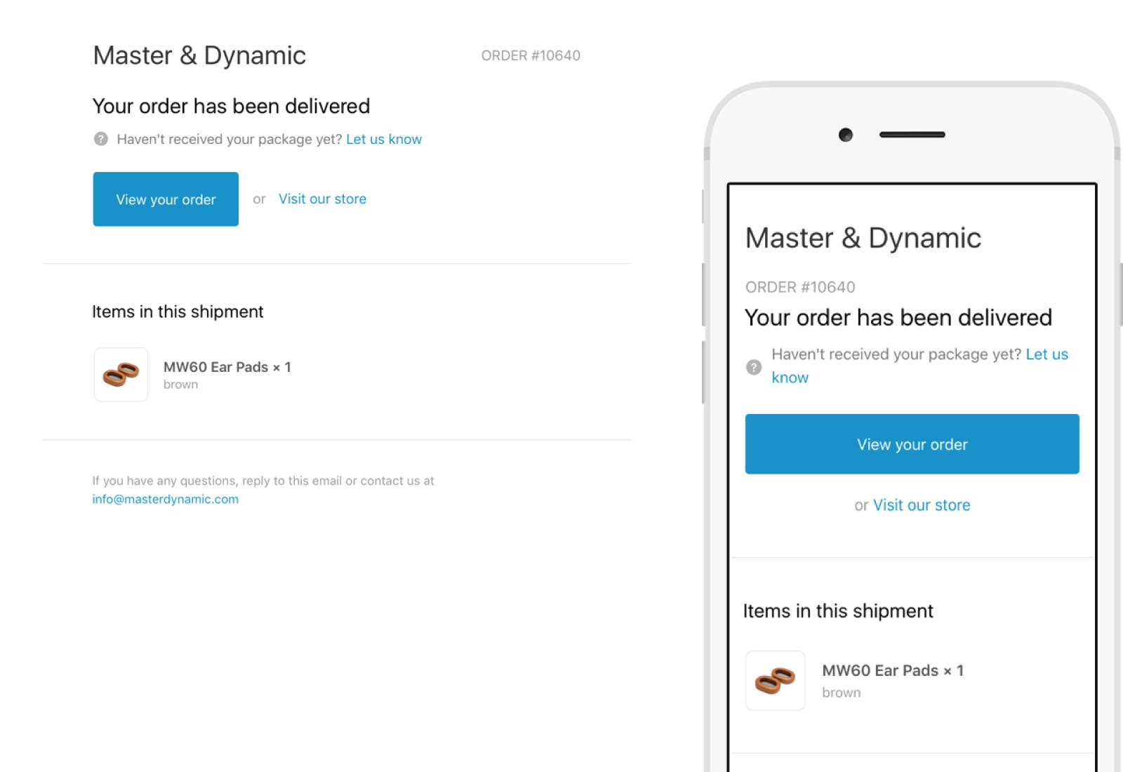 Master & Dynamic Email