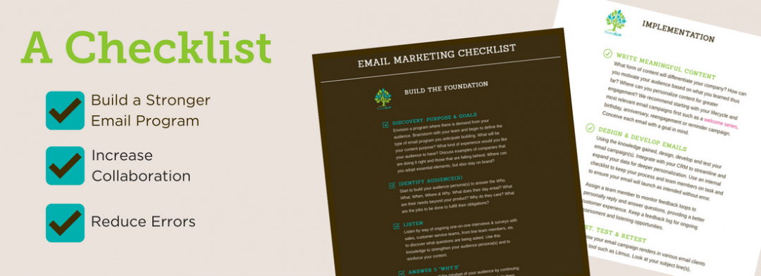 Improve Your Email Marketing Program with a Checklist